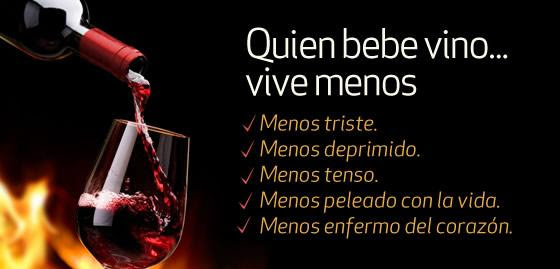 frases de vino quien bebe vino menos vive
